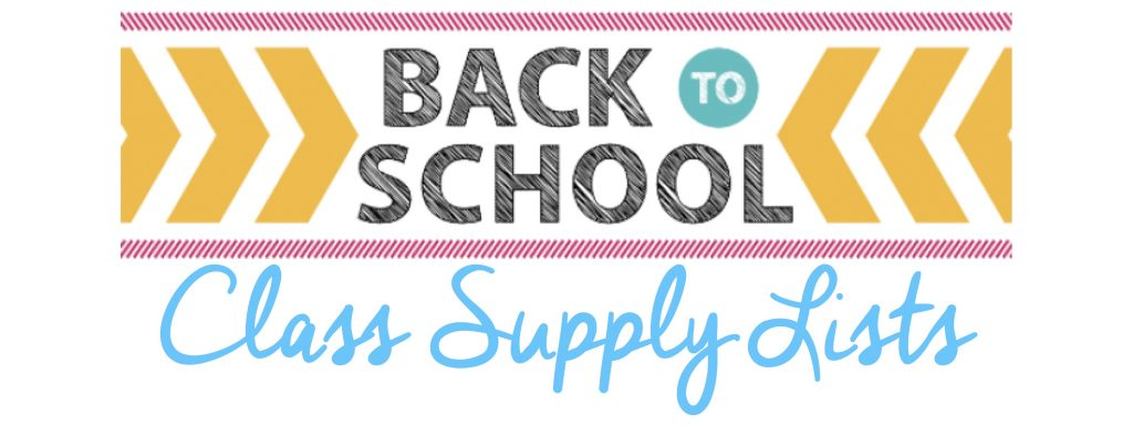 Back to School Class Supply List header