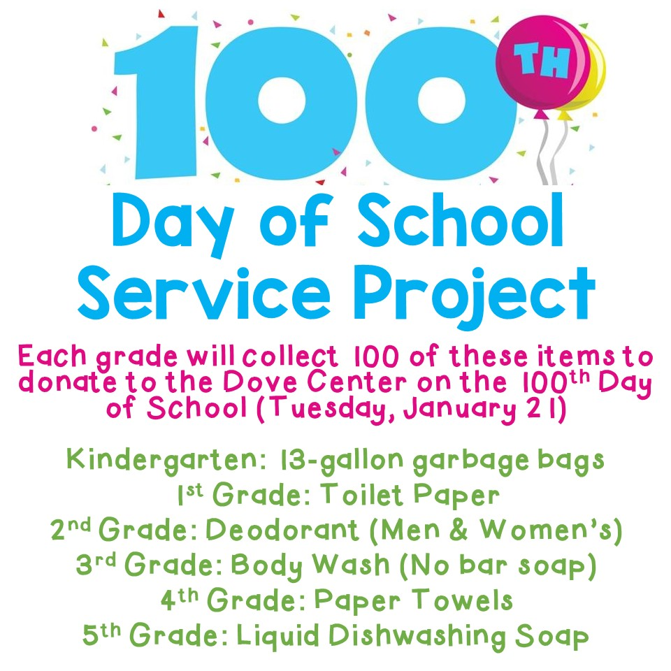 100 Day of School Service Project